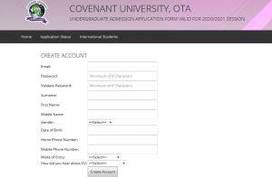 Covenant University Courses