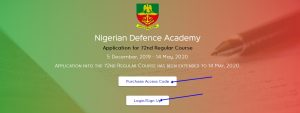 NDA Admission Application Form