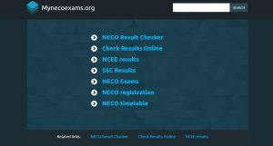 NECO 2020 Registration Form