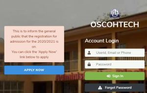 My Logo: OSCOHTECH Admission Form