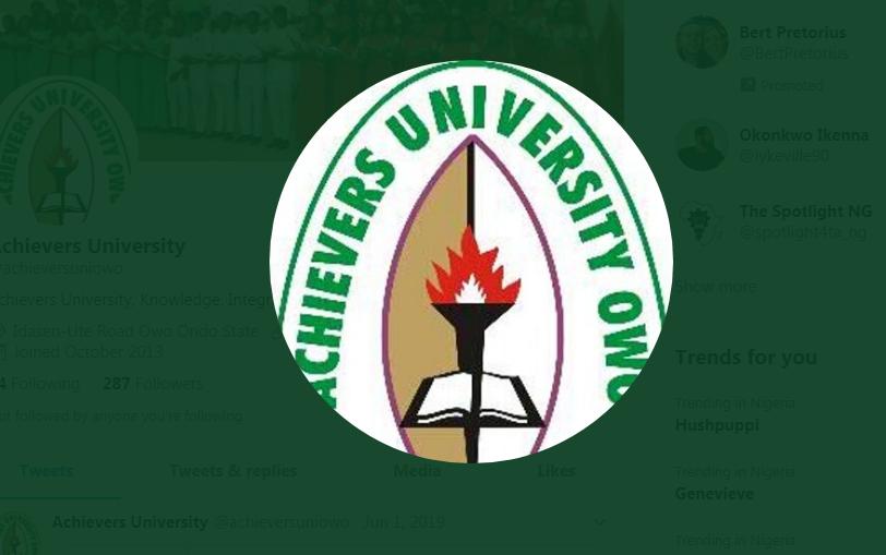 My Logo; Achievers University Post UTME