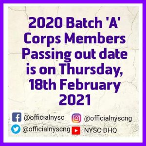 NYSC Winding-up Date