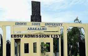 My Logo : EBSU Admission List