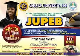 My Logo : Adeleke University JUPEB Admission Form